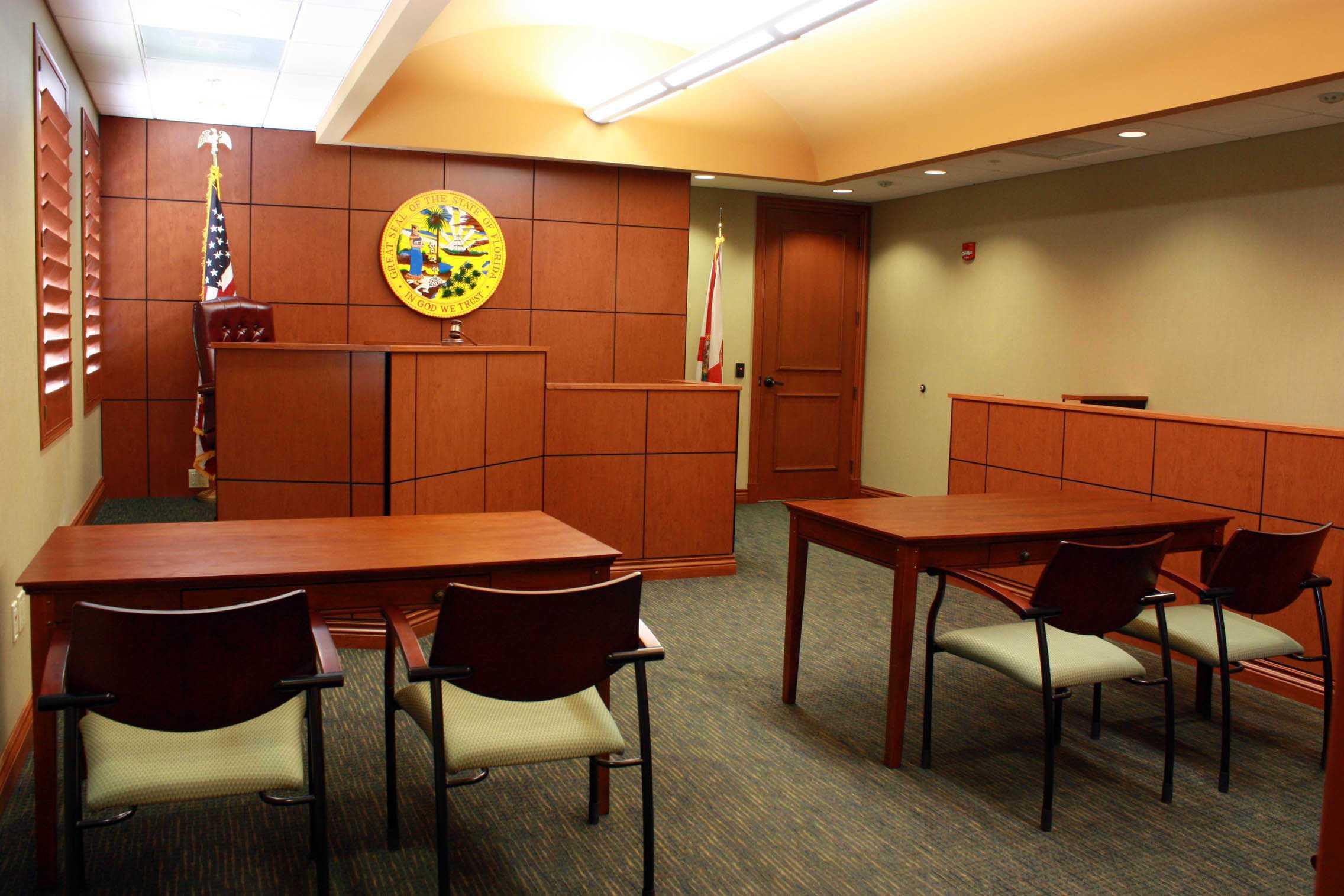 custom mocked courtroom labovick law group